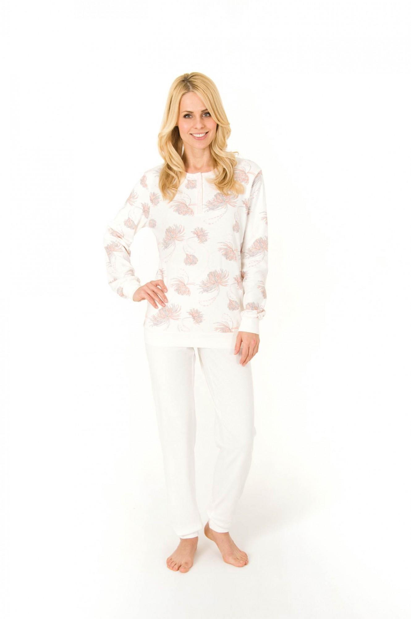Pyjama langarm mit Bündchen, Interlock, Knopfleiste am Hals, 251 201 96 110 001