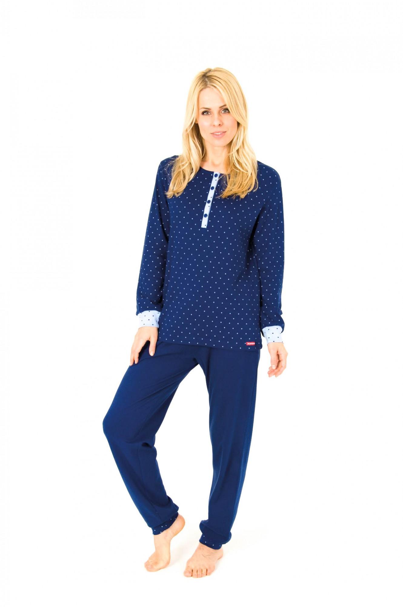 Pyjama mit Bündchen, Kuschel Interlock,   251 201 96 980