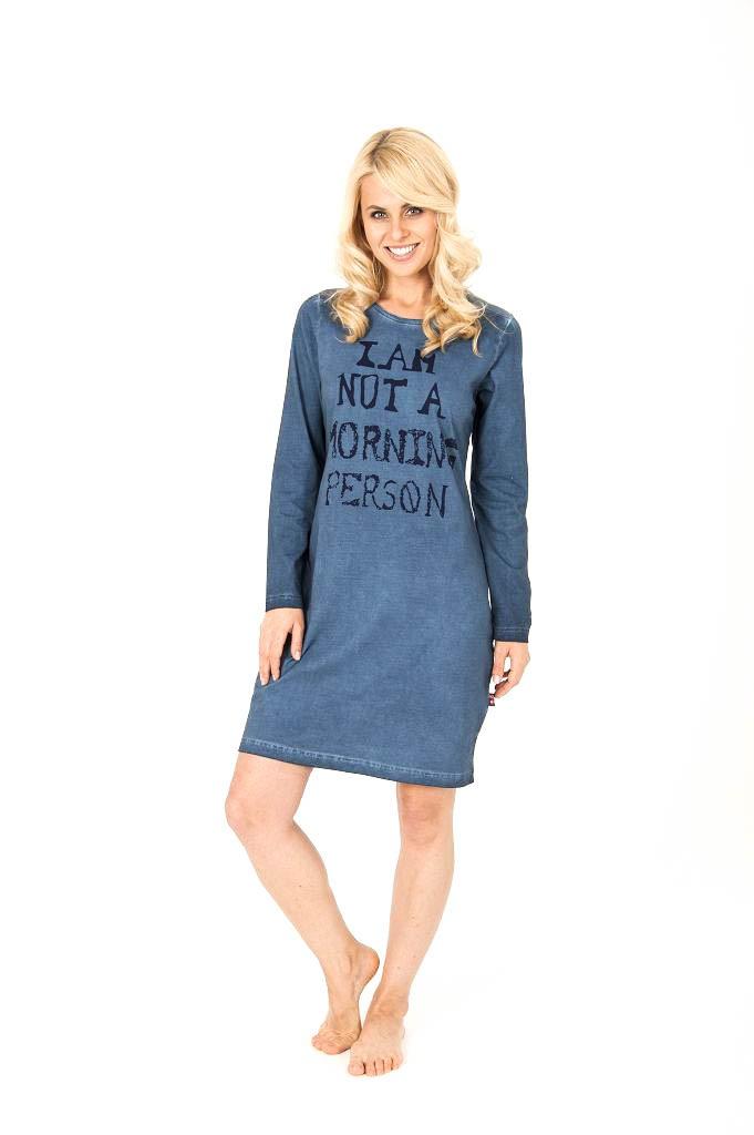 uk availability 37e6e a7f1a Kurznachthemd, langarm, washed-look, 95 cm Länge, 251 213 90 144