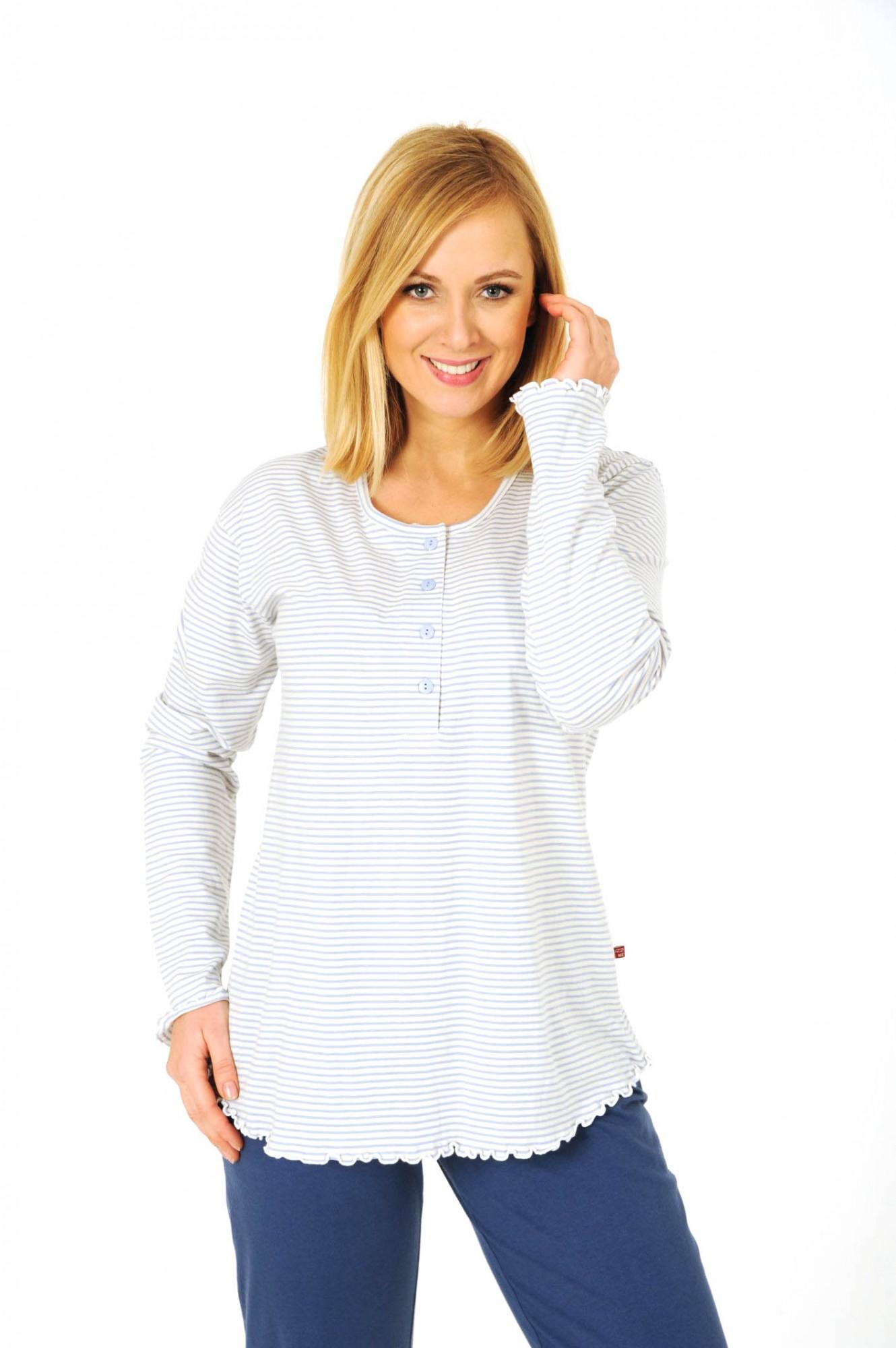 Damen Shirt  Oberteil - langarm Mix & Match geringelt  251 219 90 158 – Bild 3