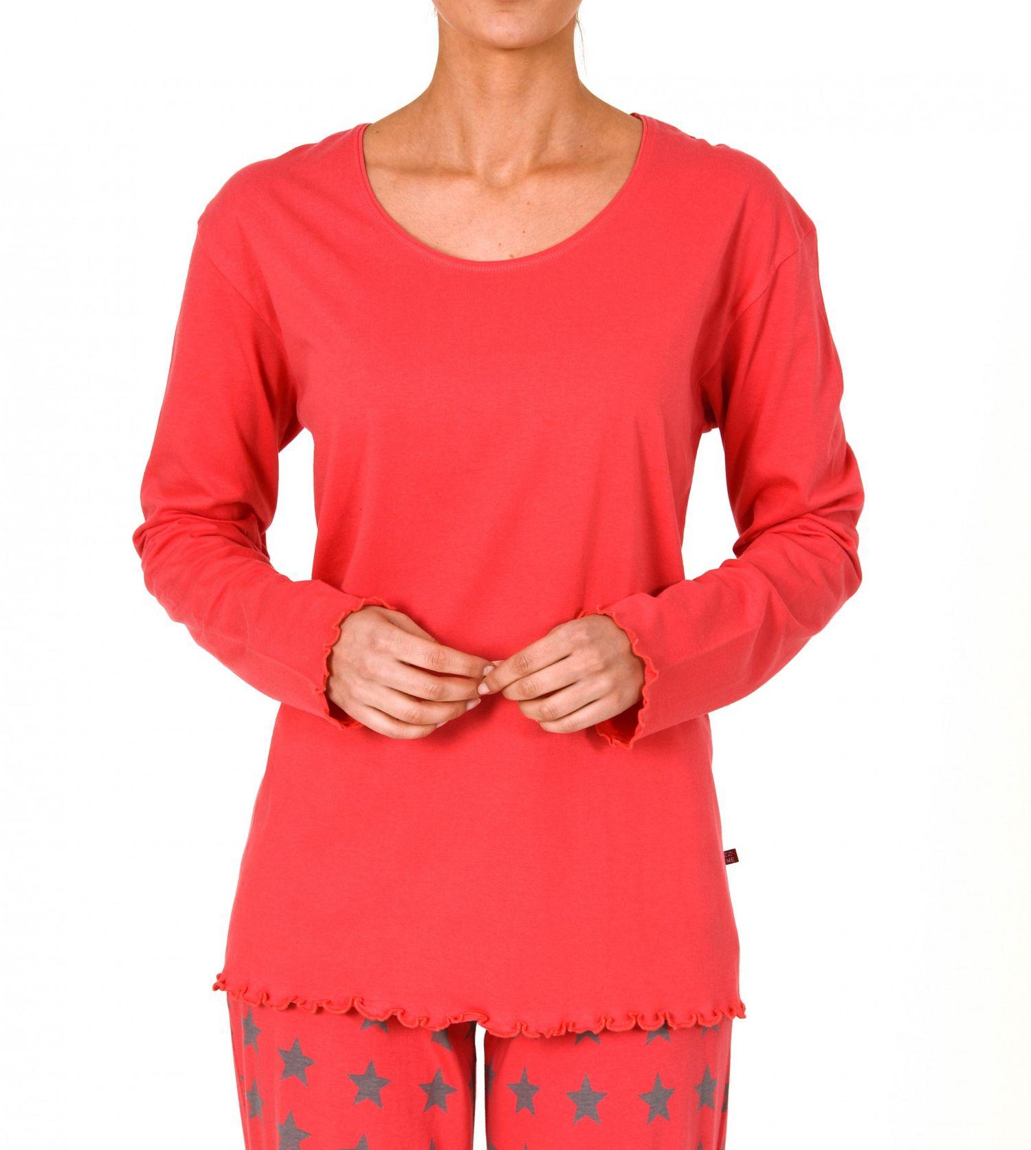 Damen Shirt - Oberteil langarm Mix & Match blau, rot oder creme, 251 219 90 161