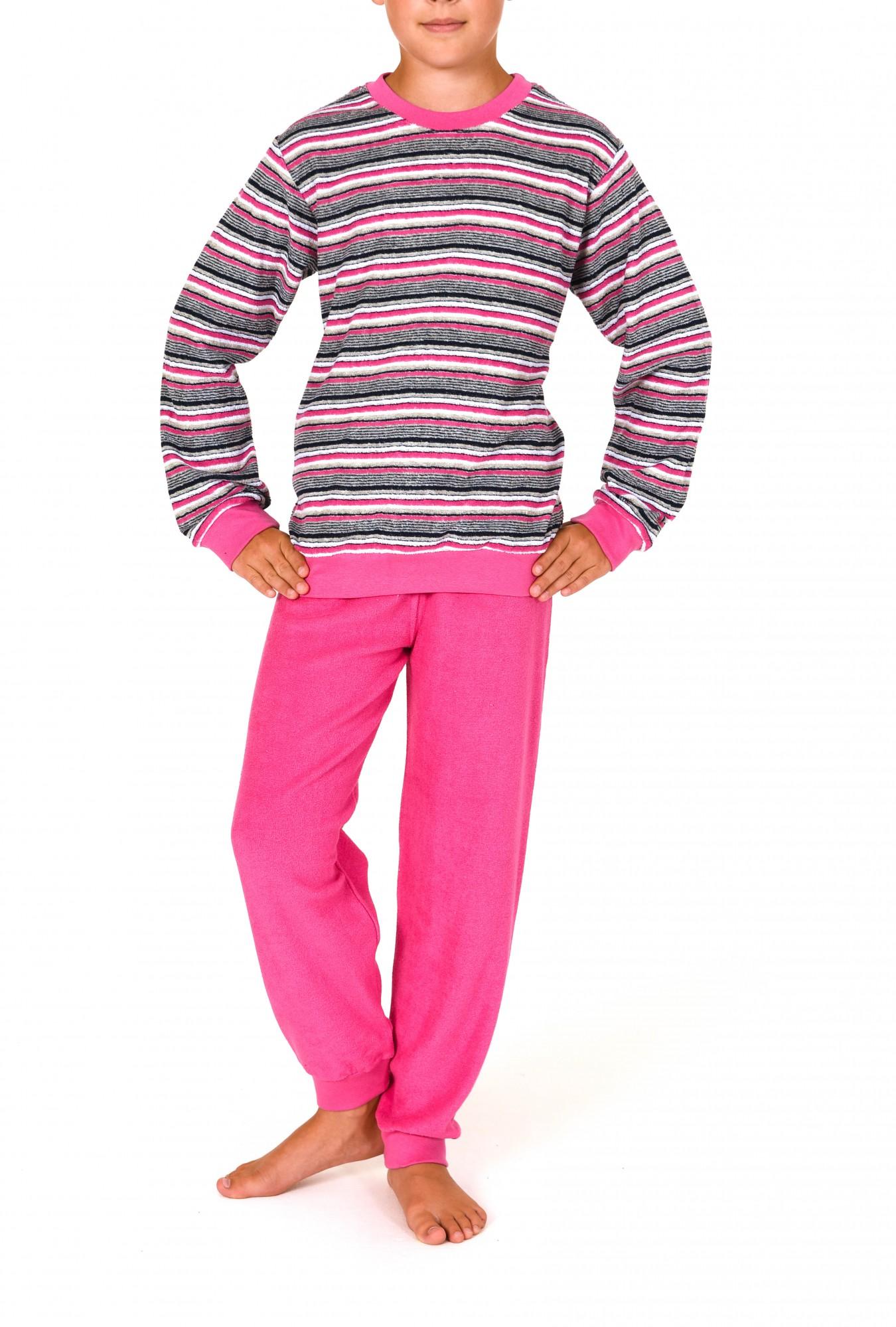 Mädchen Frottee Pyjama lang mit Bündchen   251 401 93 045 – Bild 1
