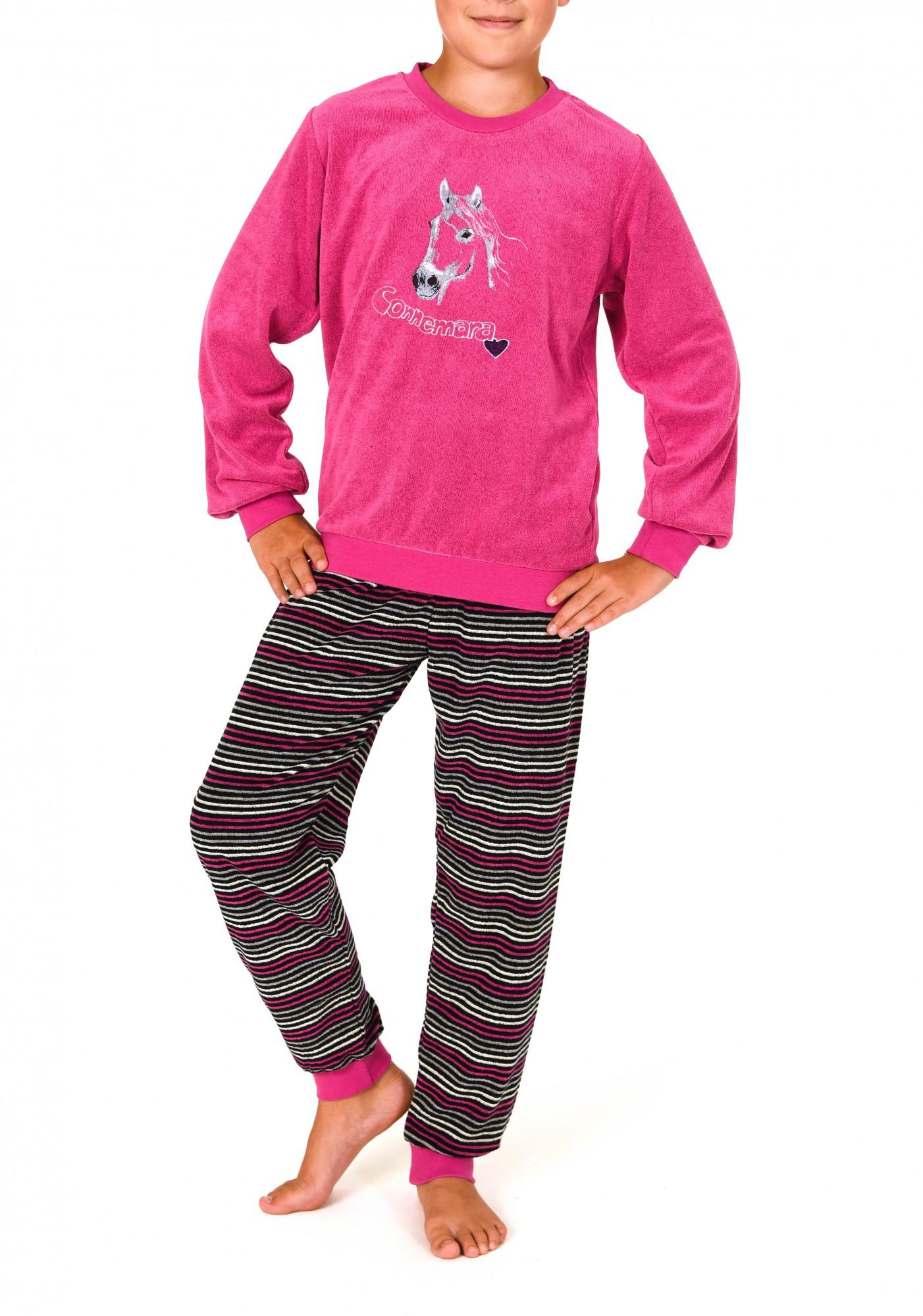 Mädchen Frottee Pyjama lang mit Bündchen   251 401 93 141 001