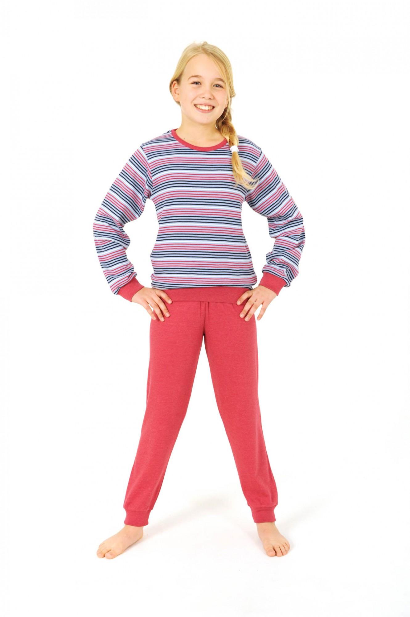 Mädchen Pyjama langarm mit Bündchen – Kuschel Interlock – 251 401 96 910 001