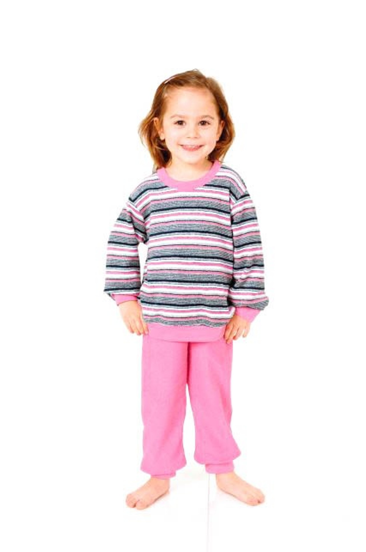 Mädchen Frottee Pyjama lang mit Bündchen – Grössen 86 – 110 -   251 701 93 045 001