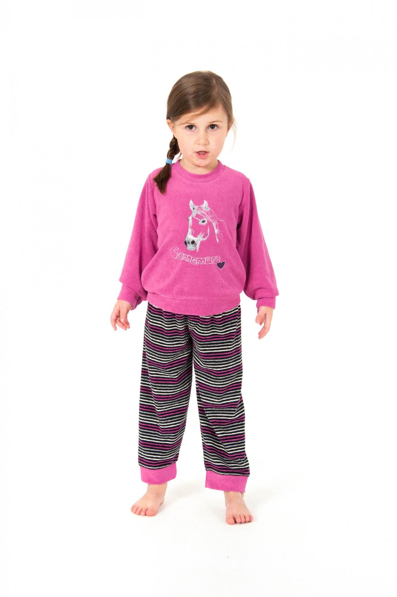 Mädchen Frottee Pyjama lang mit Bündchen – Grössen 86 – 110 -   251 701 93 141