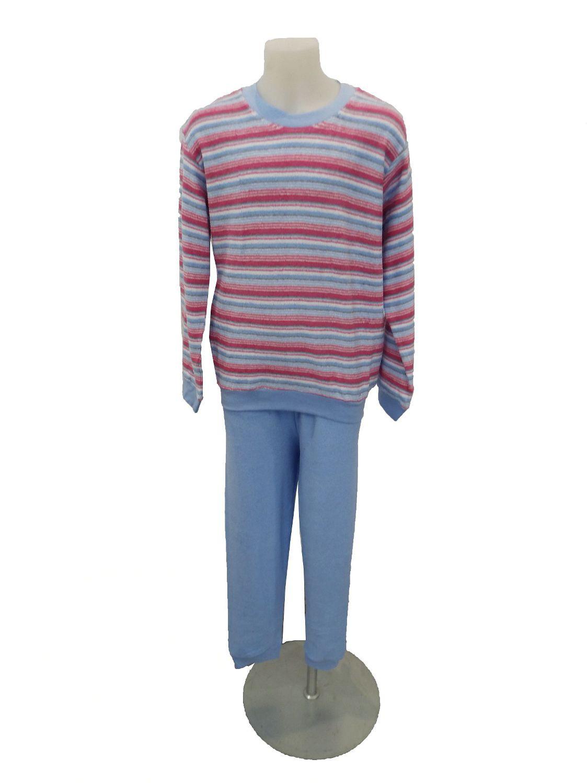 Mädchen Frottee Pyjama lang – Schlafanzug mit Bündchen – 55348 – Bild 2