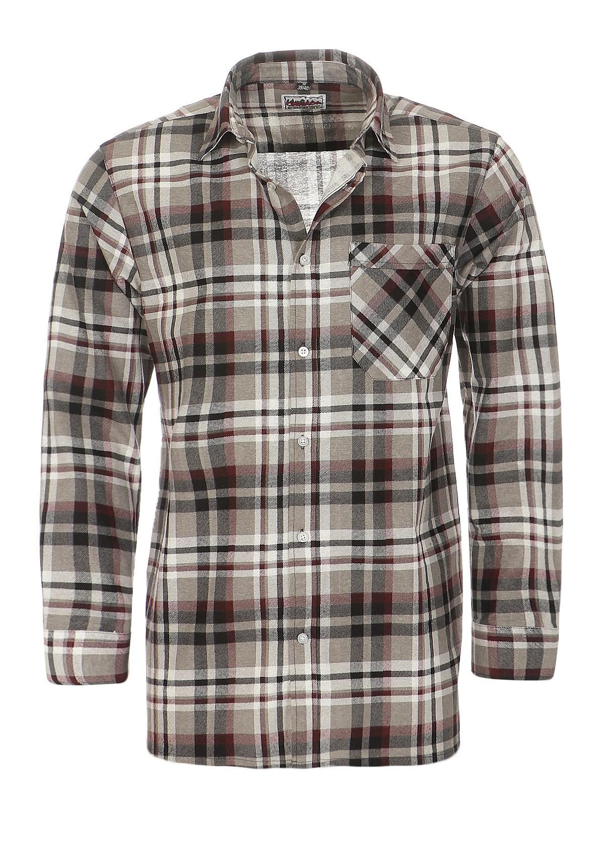 3 Arbeitshemden in Holzfällerkaro-Optik - 85 cm Rückenlänge – Bild 2