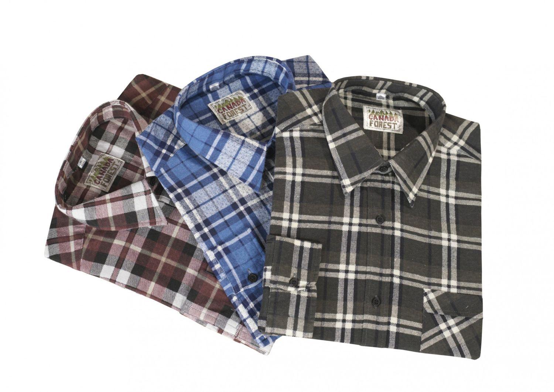 3 Arbeitshemden in Holzfällerkaro-Optik - 85 cm Rückenlänge – Bild 6