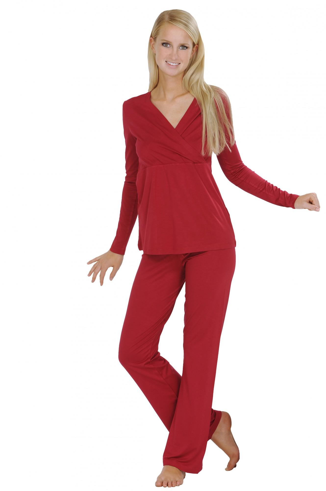 Praktischer Damen Still- und Umstandspyjama 723930 001