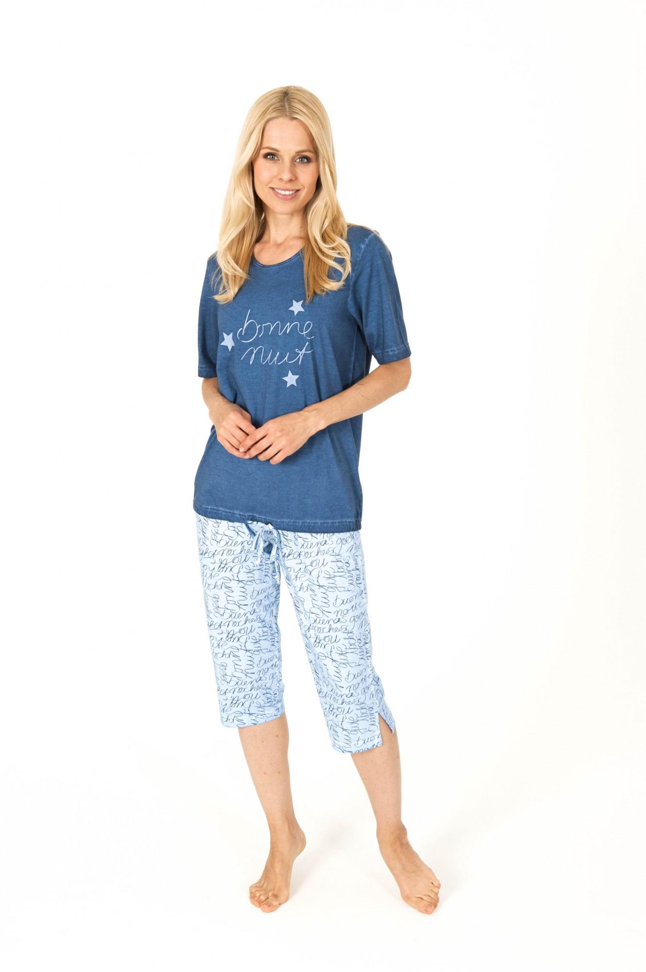 Damen Capri Pyjama mit 3/4-Hose - auch ideal als Loungewear oder Hausanzug – 204 90 840 001