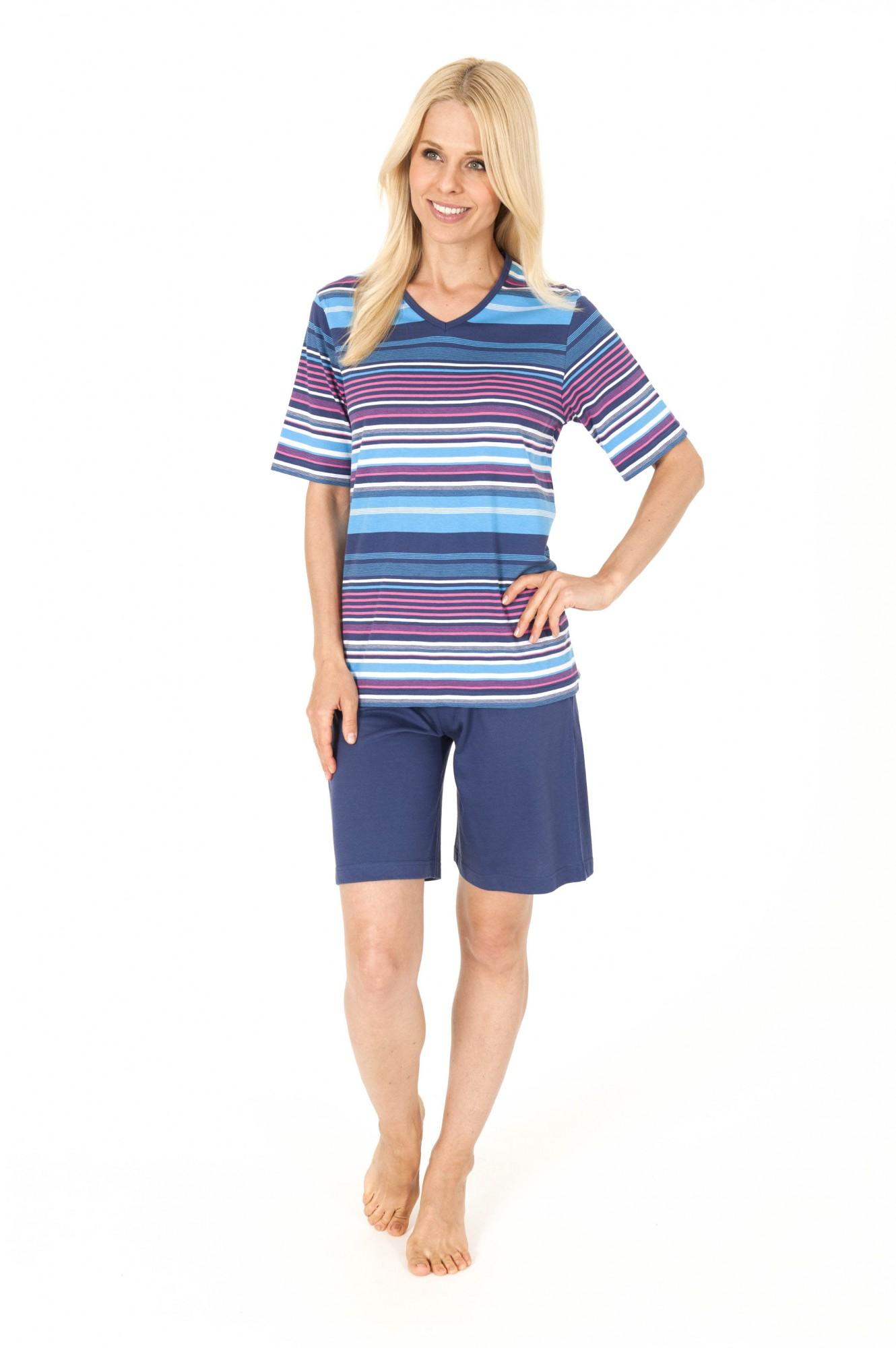 Schicker Damen Shorty Pyjama im Streifenlook – 161 205 90 893