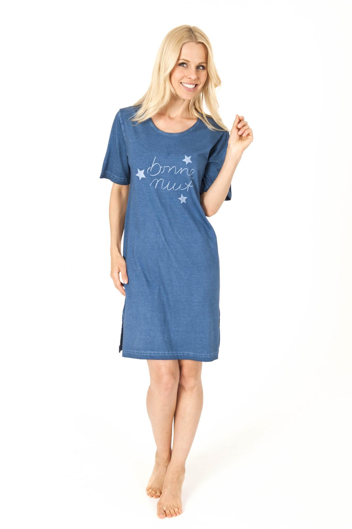 Lässiges Damen Nachthemd kurzarm washed look – 161 213 90 840