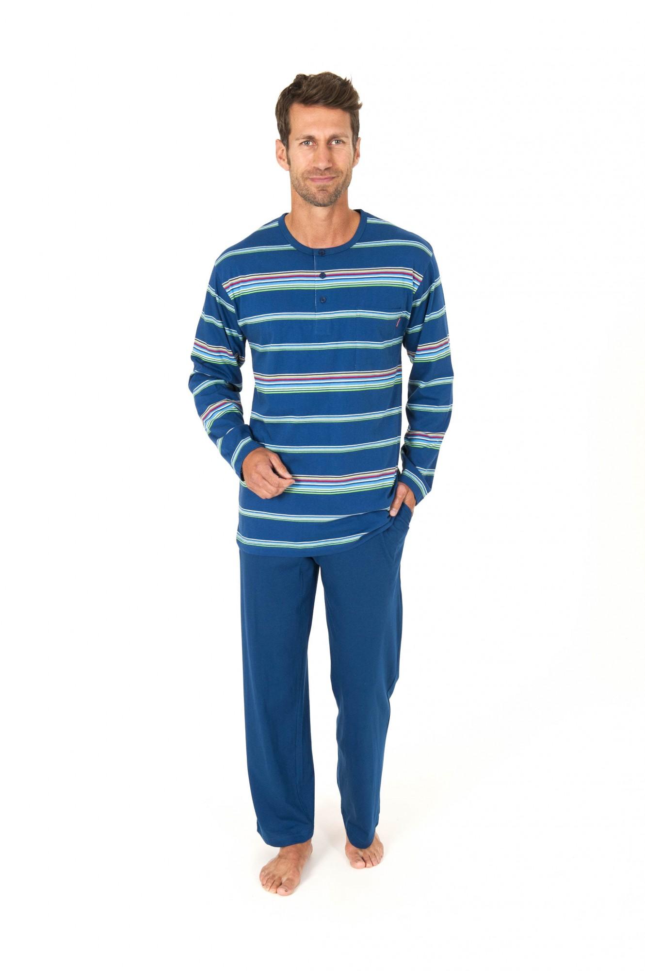 Lässiger Herren Pyjama langarm Streifen Optik – 161 101 90 724 001