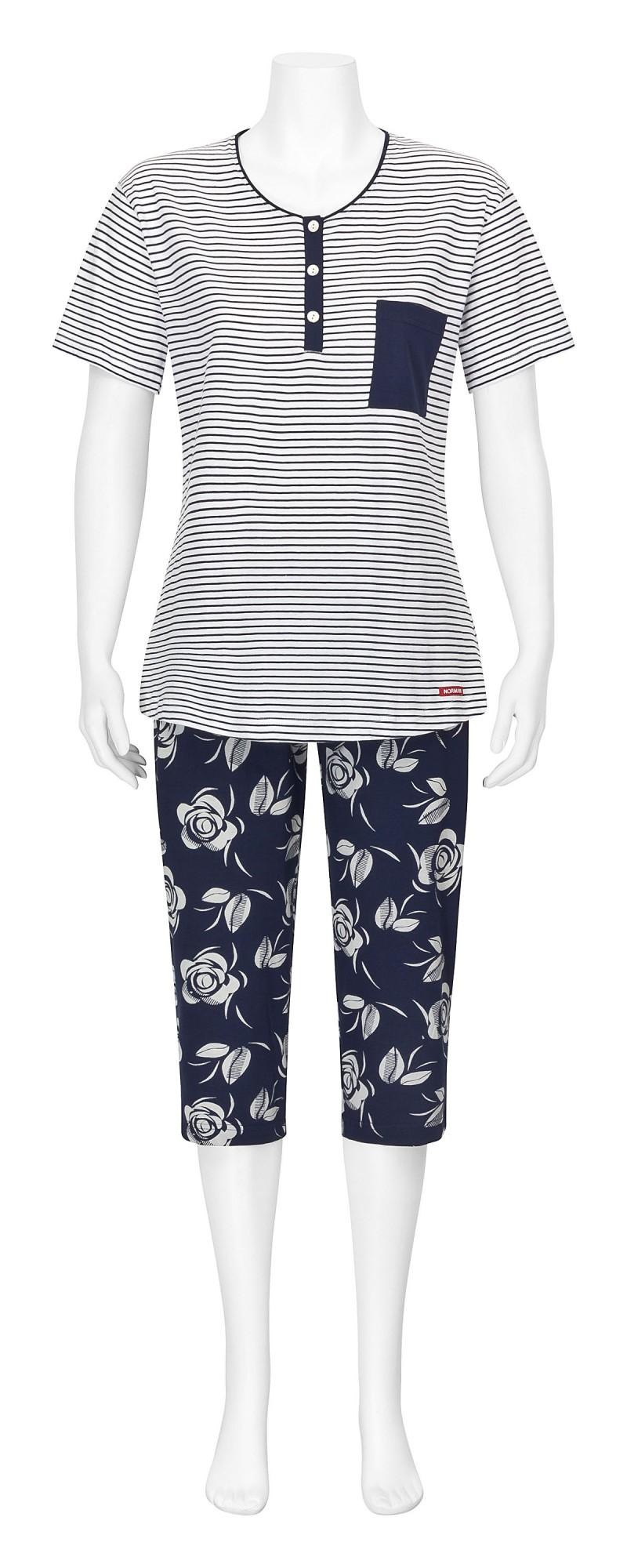 Damen Capri-Pyjama kurzarm – auch Grösse 32/34 und Übergrösse bis 60/62  - 204 90 881 – Bild 2