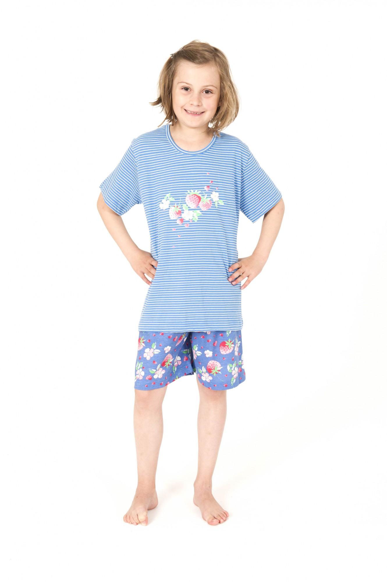 Cooler Mädchen Pyjama kurzarm gestreift – 161 405 90 838 – Bild 1