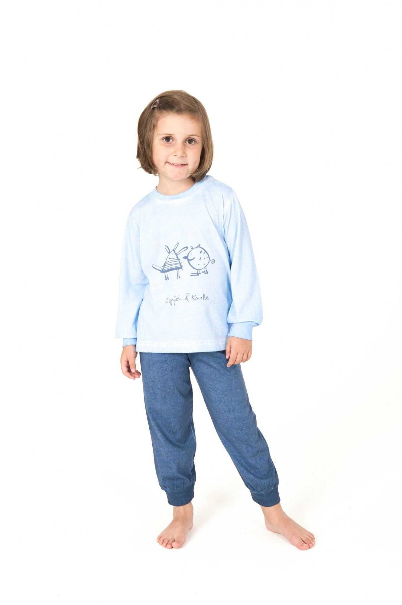 Cooler Mädchen Kinder Pyjama langarm – 161 701 90 840 – Bild 1