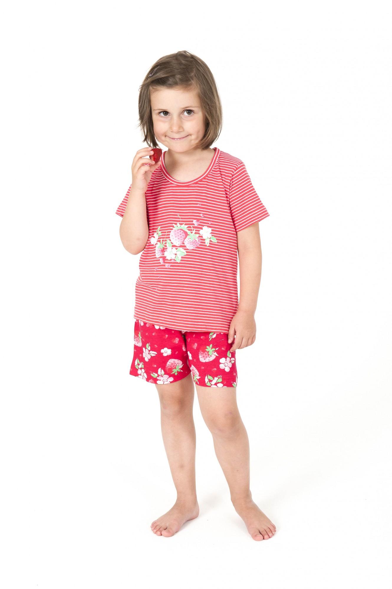 dc8c4bf742 Süsser Kleinkinder Mädchen Pyjama Shortykurzarm geringelt – 161 705 90 838  – Bild 1