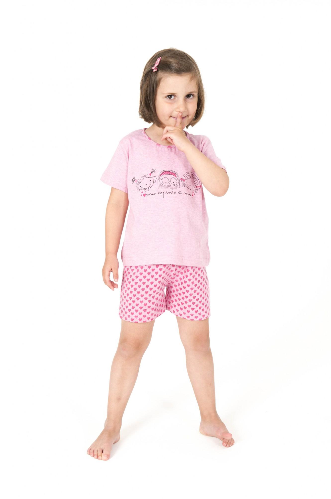 Putziger Mädchen Kinder Pyjama Shorty kurzarm mit Herzchen – 161 705 90 900