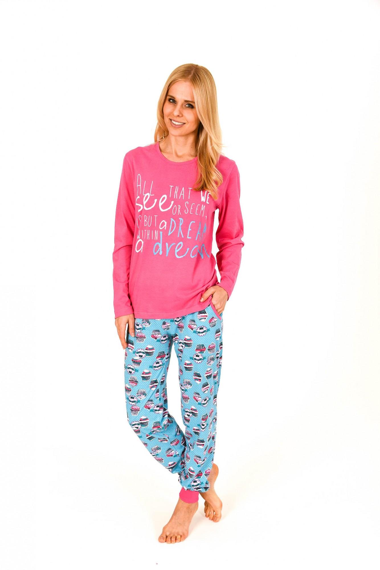 Lässiger Damen Pyjama langarm mit Cupcake Drucken – 261 201 90 103
