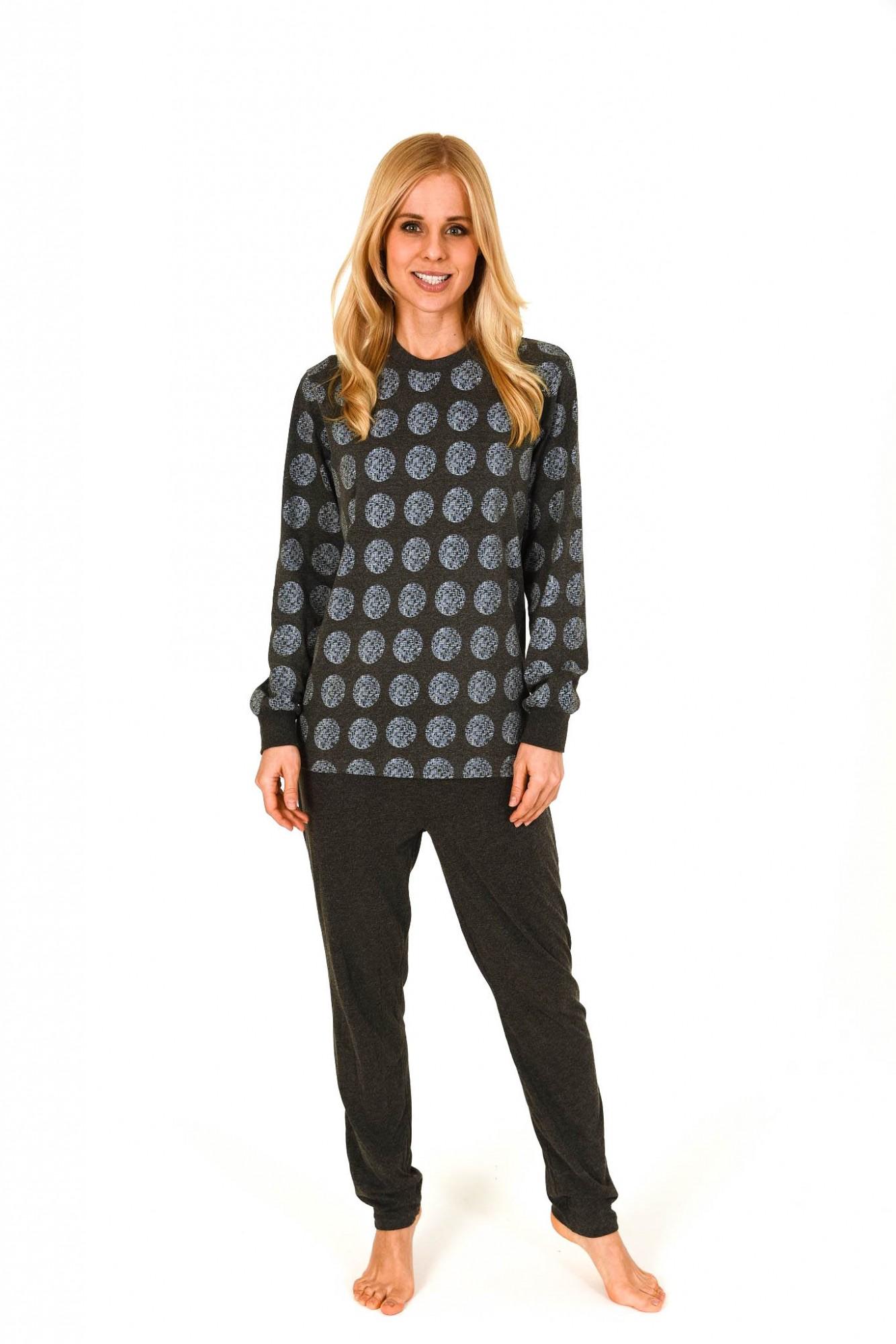 Wunderschöner Damen Pyjama mit Bündchen im Tupfendesign – 261 201 90 131