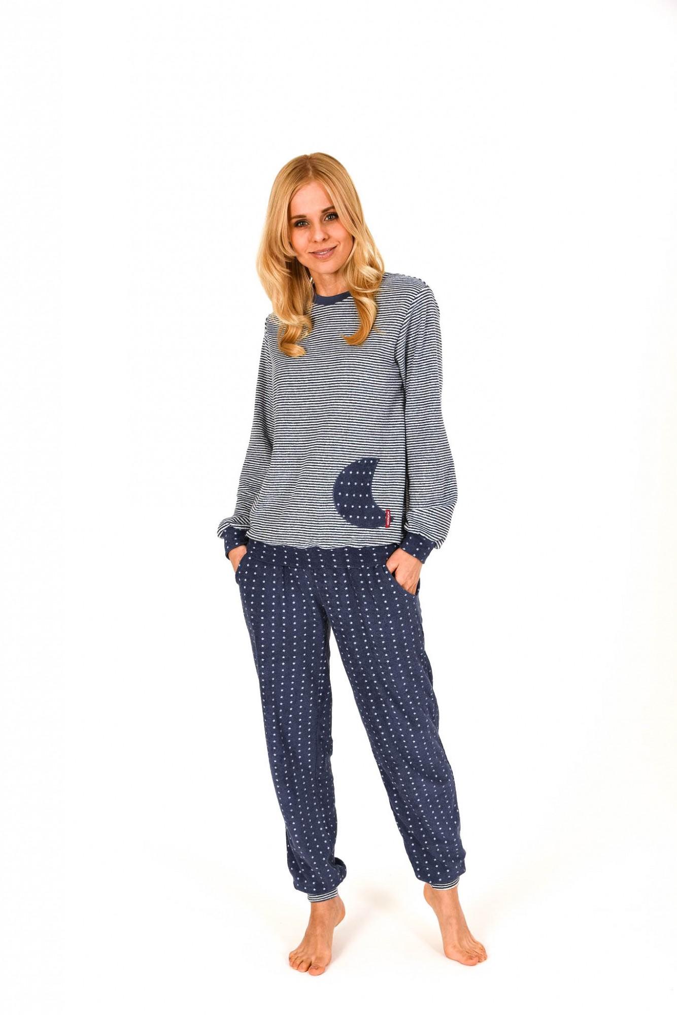 Damen Frottee Pyjama lang mit Bündchen – auch in Übergrössen  bis 60/62- 201 93 200