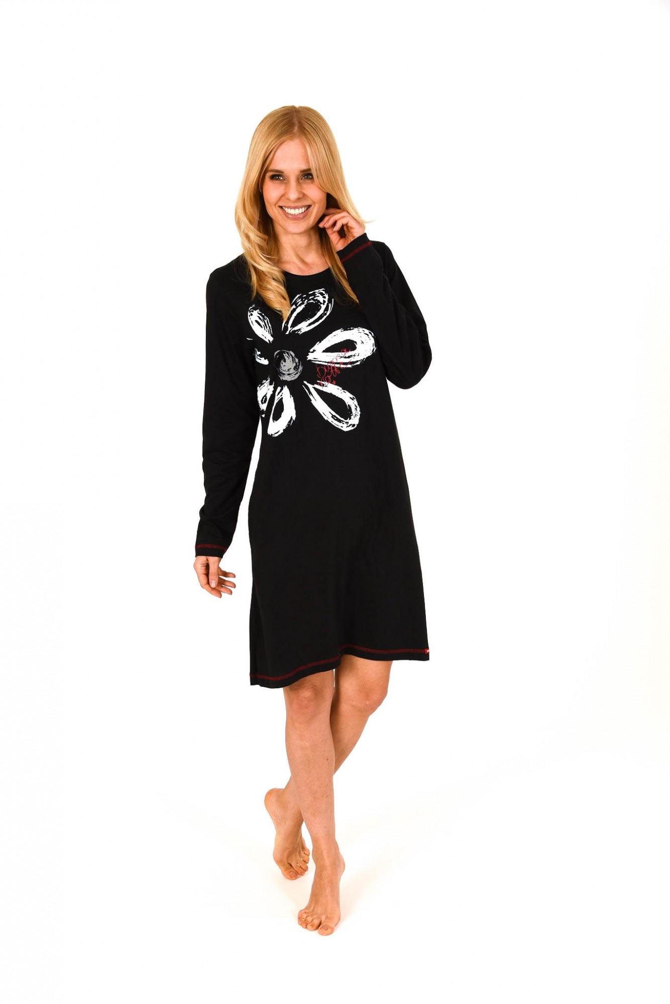 Damen Sleepshirt Nachthemd mit plazierten Druck ProKlima – 261 213 90 228 001