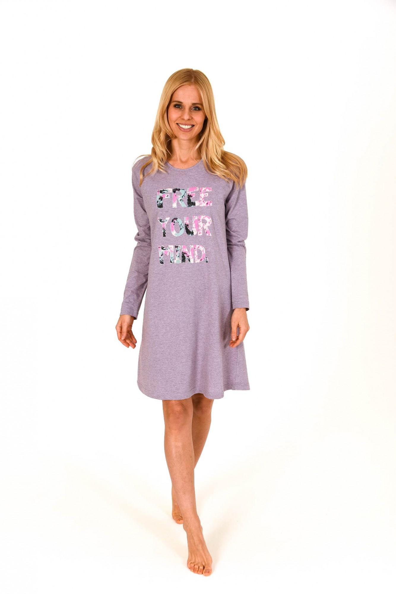 Damen Sleepshirt Nachthemd mit ausgefallenen Schriftzug – 261 213 90 410 001