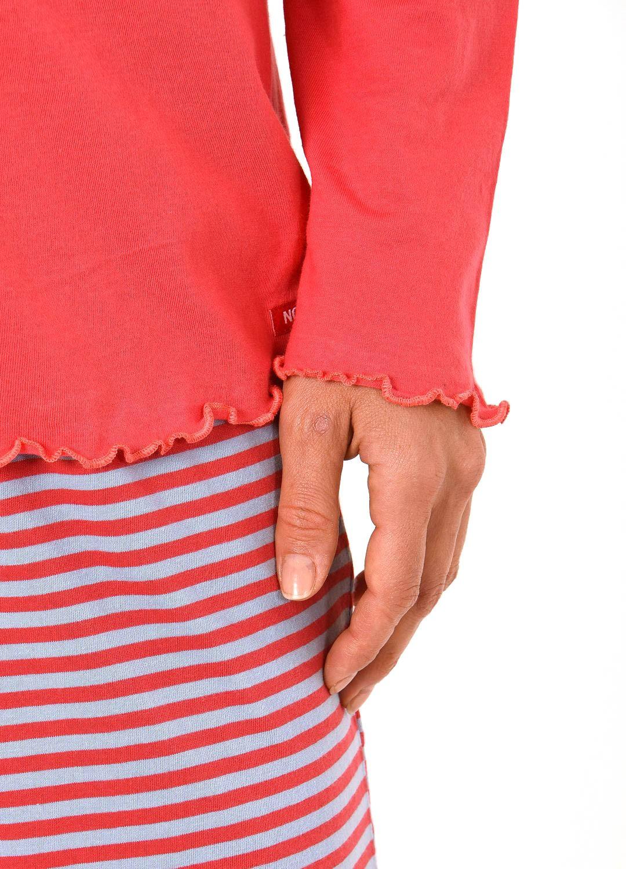 Damen Shirt - Oberteil langarm Mix & Match blau, rot oder creme – 261 219 90 103 – Bild 4