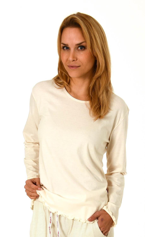 Damen Shirt - Oberteil langarm Mix & Match blau, rot oder creme – 261 219 90 103 – Bild 3