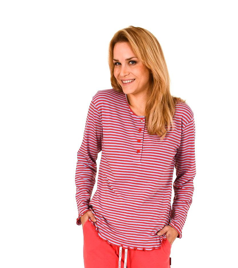 Damen Shirt  Oberteil - langarm Mix & Match Streifendesign – 261 219 90 105 – Bild 2
