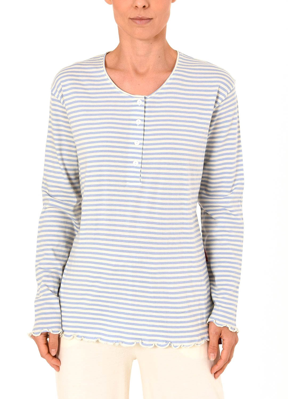 Damen Shirt  Oberteil - langarm Mix & Match Streifendesign – 261 219 90 105 – Bild 3
