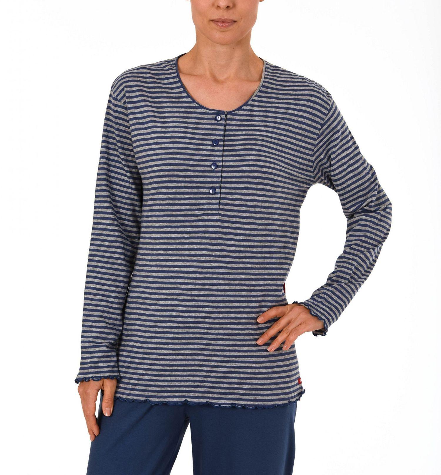 Damen Shirt  Oberteil - langarm Mix & Match Streifendesign – 261 219 90 105