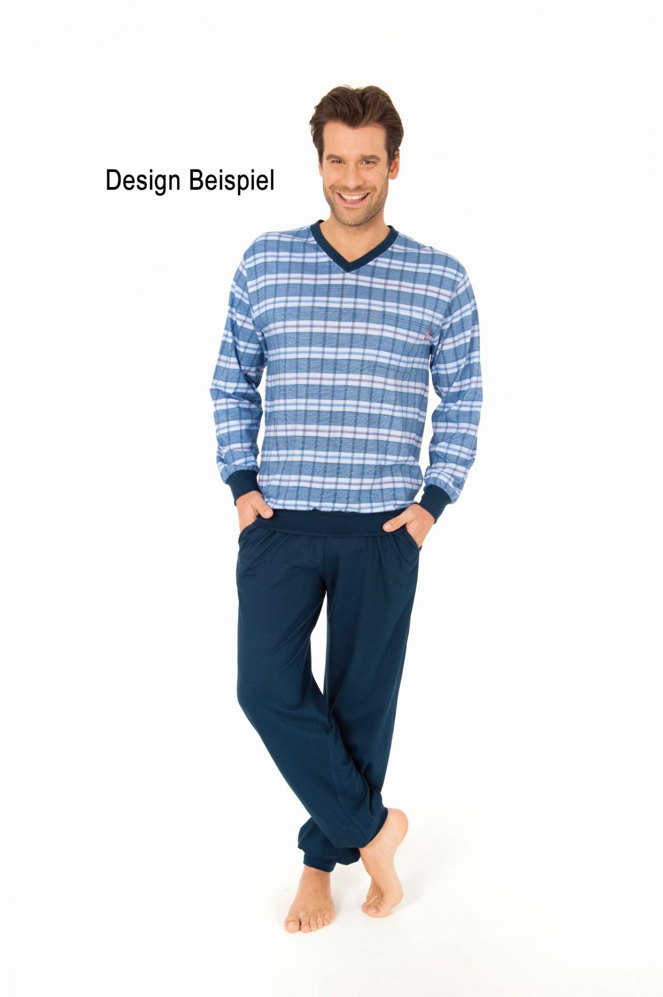 2 Übergrössen Herren Pyjamas langarm 2erpack – 1004995 001