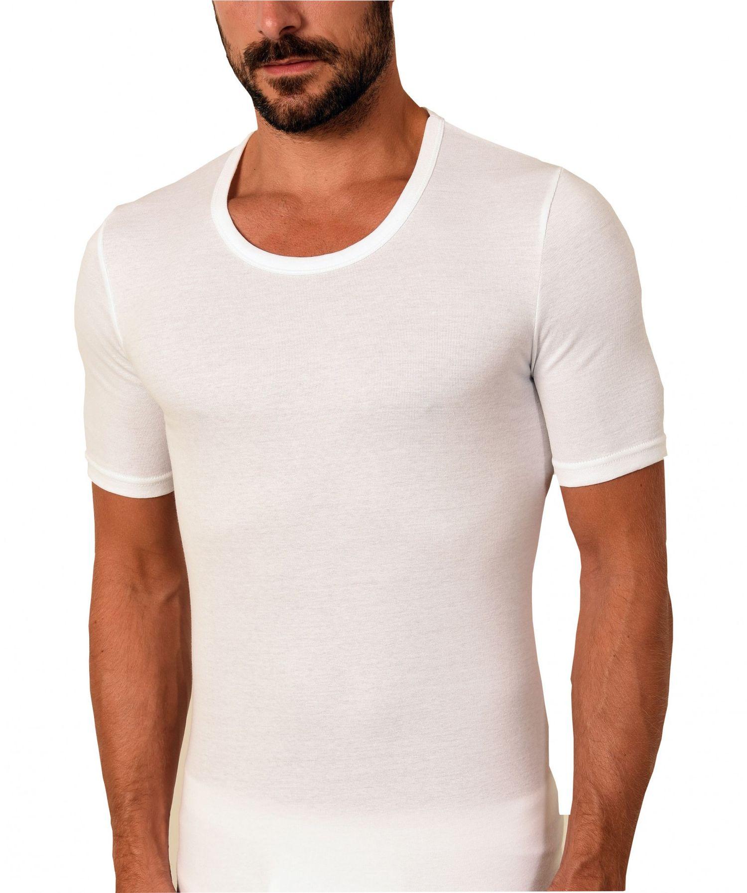 03597aa4a9 Herren Unterhemd kurzarm 1/2-Arm Feinripp 2erpack weiss Business Shirt 54967