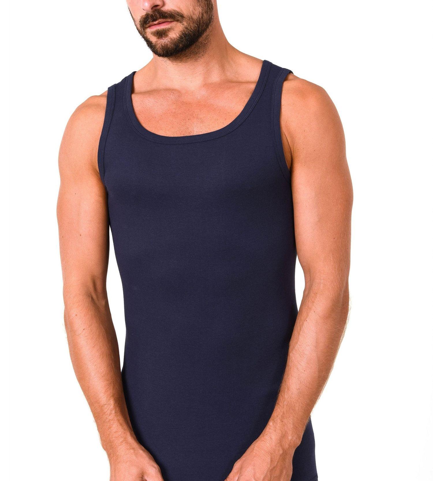 Herren Achselhemd Feinripp Tanktop Unterhemd 2erpack  aus 100 % Baumwolle 54981