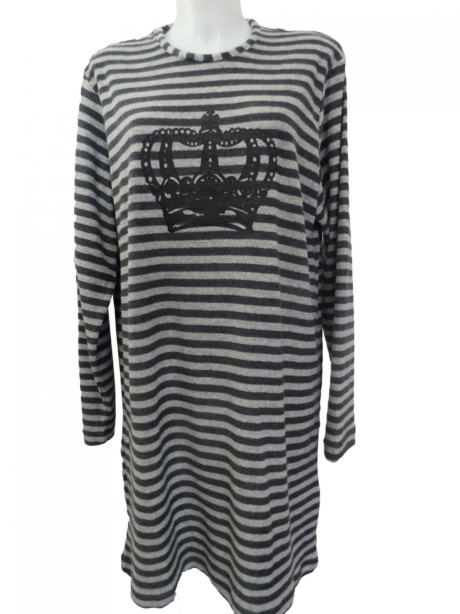 Damen Kurznachthemd Frottee Bigshirt 58048 – Bild 2