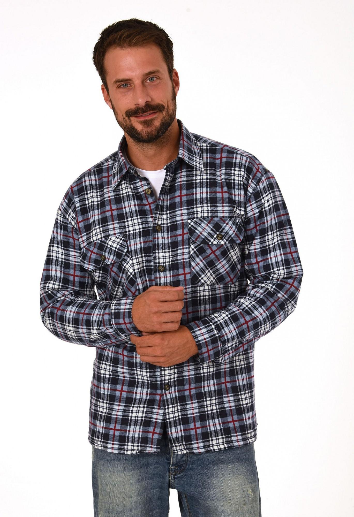 Thermo Flanell Arbeitshemden in Holzfällerkaro-Optik - 50503 – Bild 1