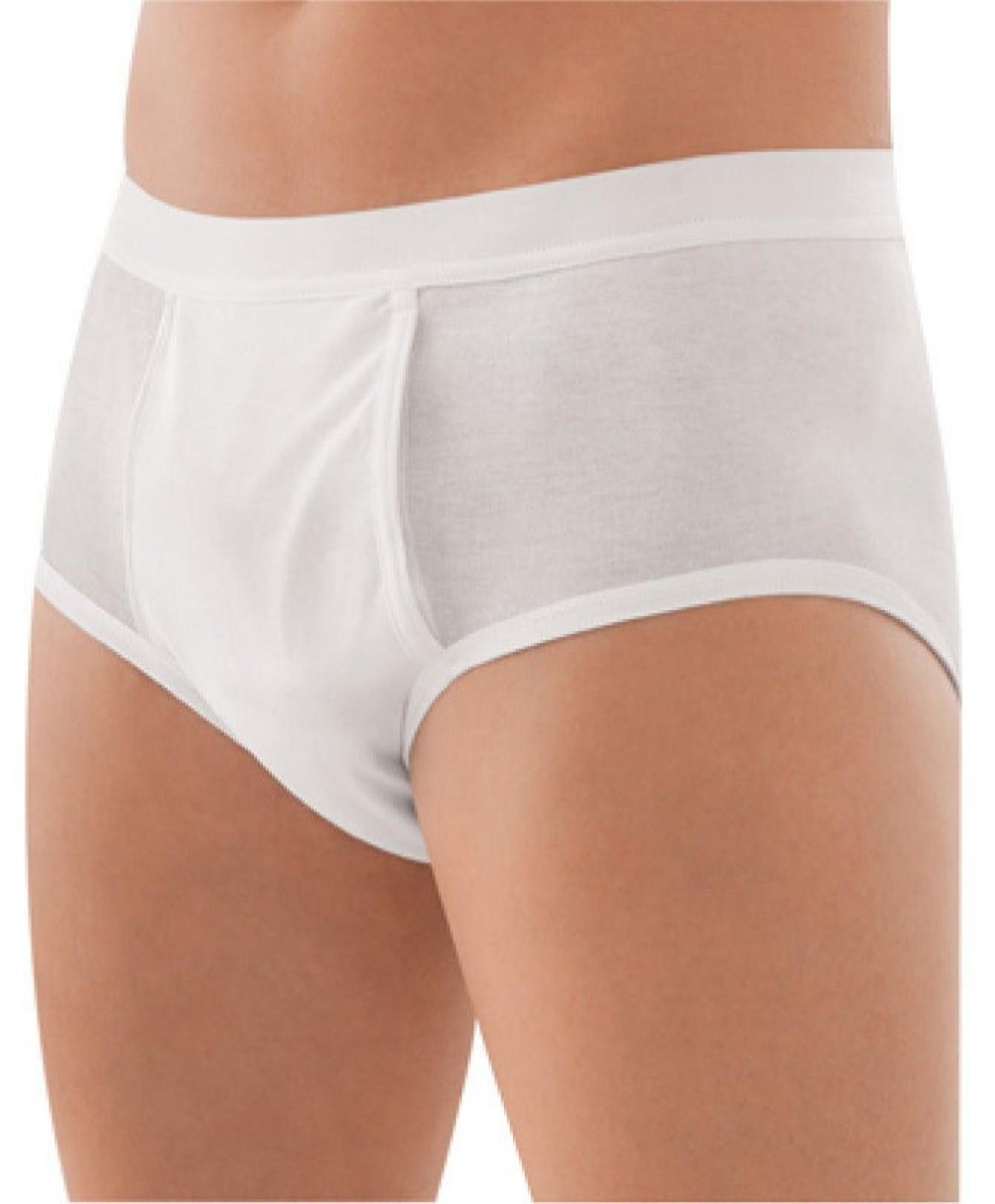 Herren Feinripp Slip Unterhose 2er Pack aus Baumwolle mit Eingriff und Weichbund – Bild 3