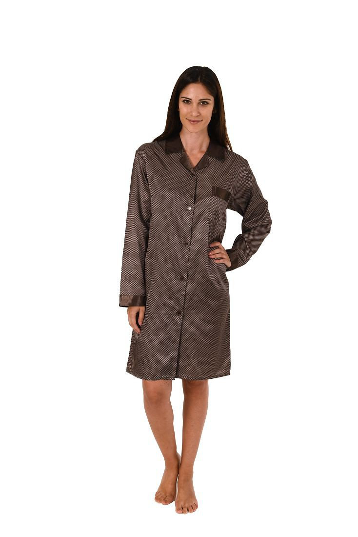 Damen Satin Kurznachthemd Bigshirt - innen angeraut 271 213 94 001
