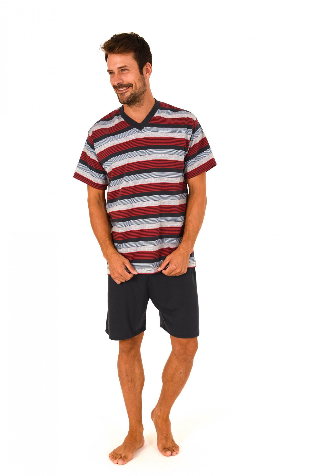 Herren Pyjama Shorty kurzarm gestreift – 171 105 90 724