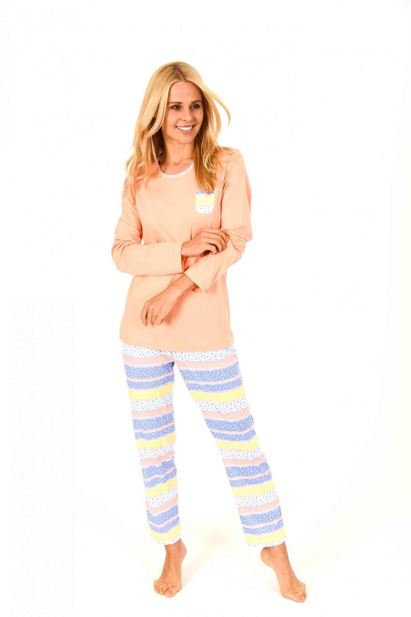 Schöner Damen Pyjama langarm in toller Optik – 171 201 90 815