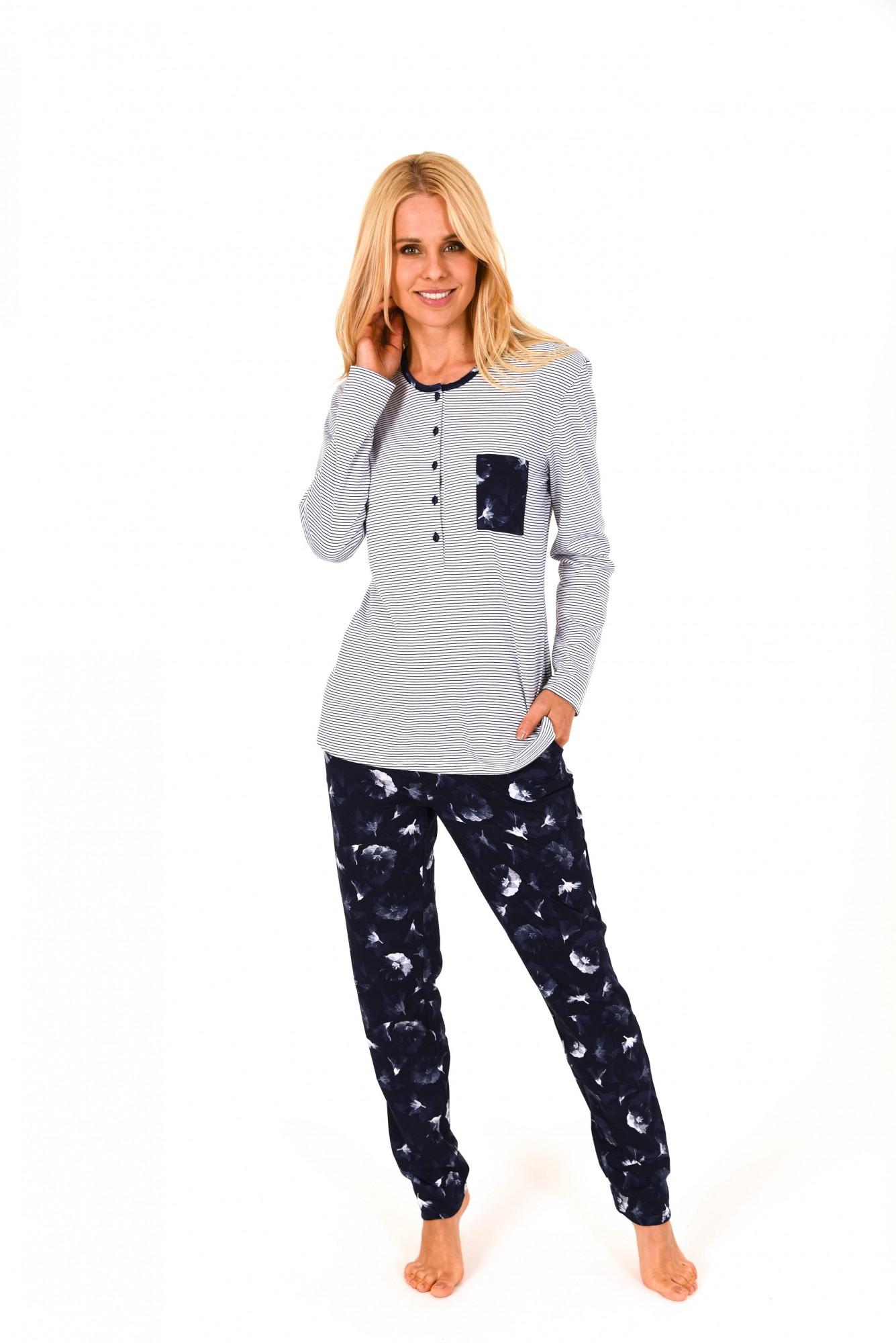 Damen Pyjama langarm – tolle Optik – 171 201 90 881 001
