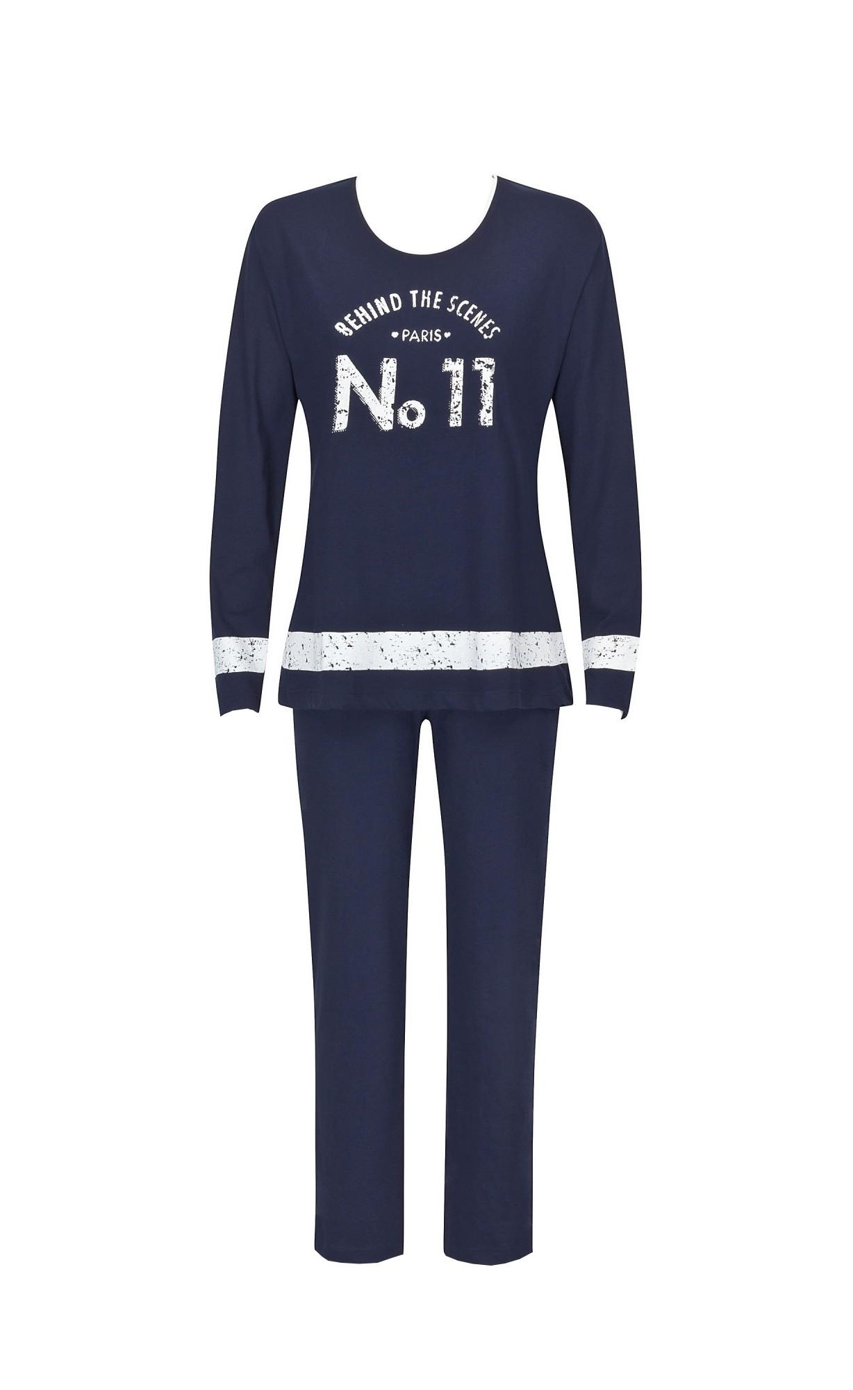 Edler  Damen Pyjama Schlafanzug mit modischen Frontprint 58698 – Bild 2