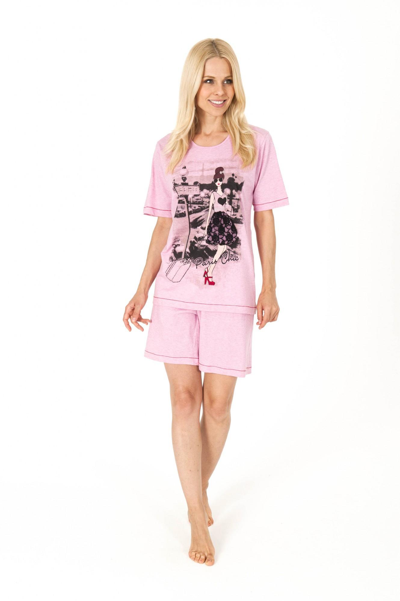 Zauberhafter Damen Shorty Pyjama aus 100 % Baumwolle - 58638