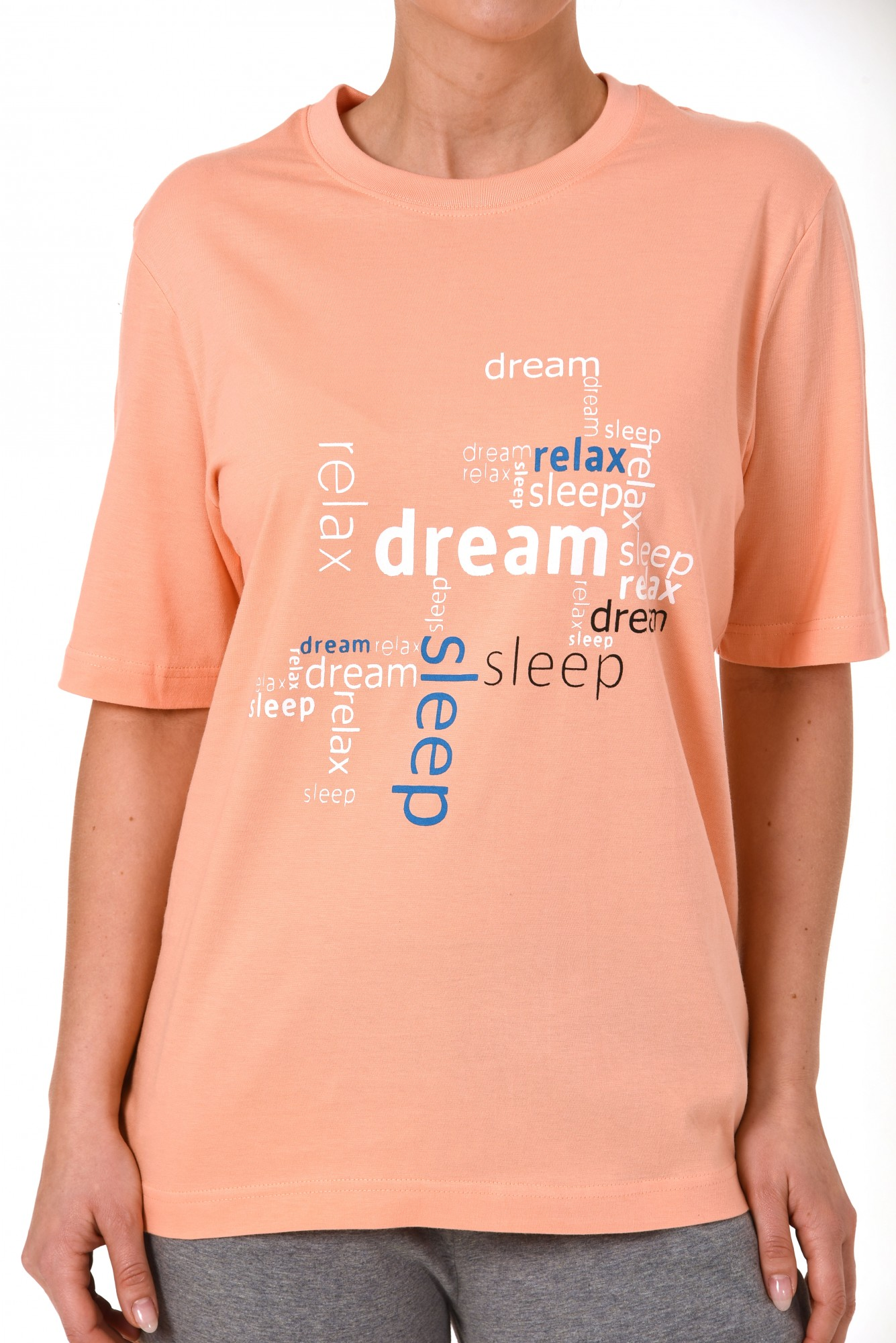 Damen Capri Pyjama 7/8-lange Hose und kurzarm Oberteil – 171 204 90 828 – Bild 4