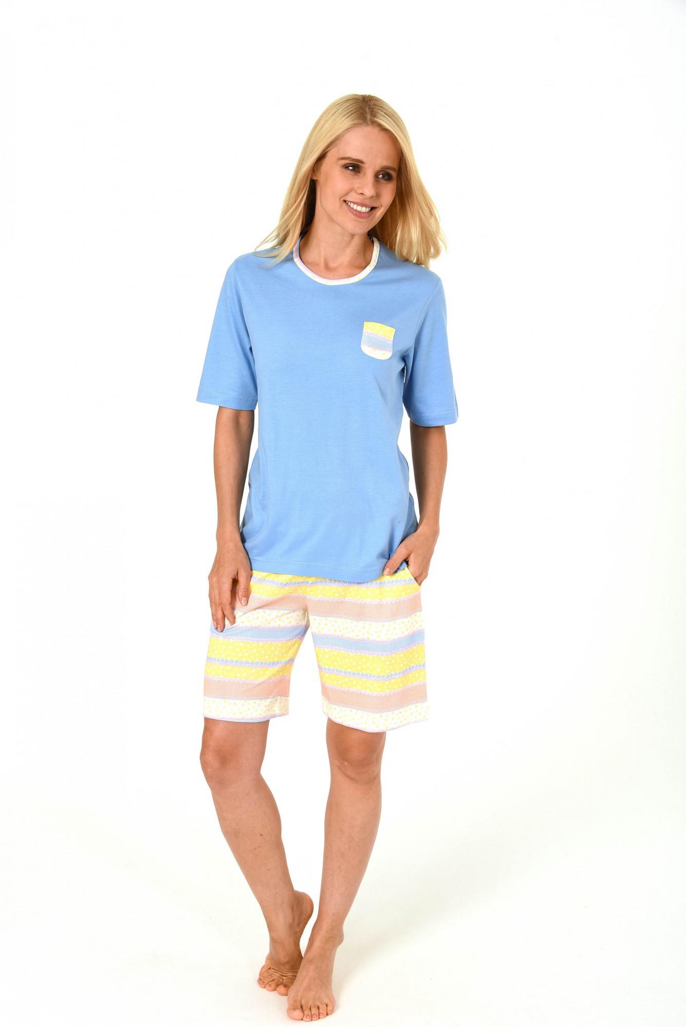 Schöner Damen Shorty Pyjama kurzarm in toller frischer Optik – 171 205 90 815 001