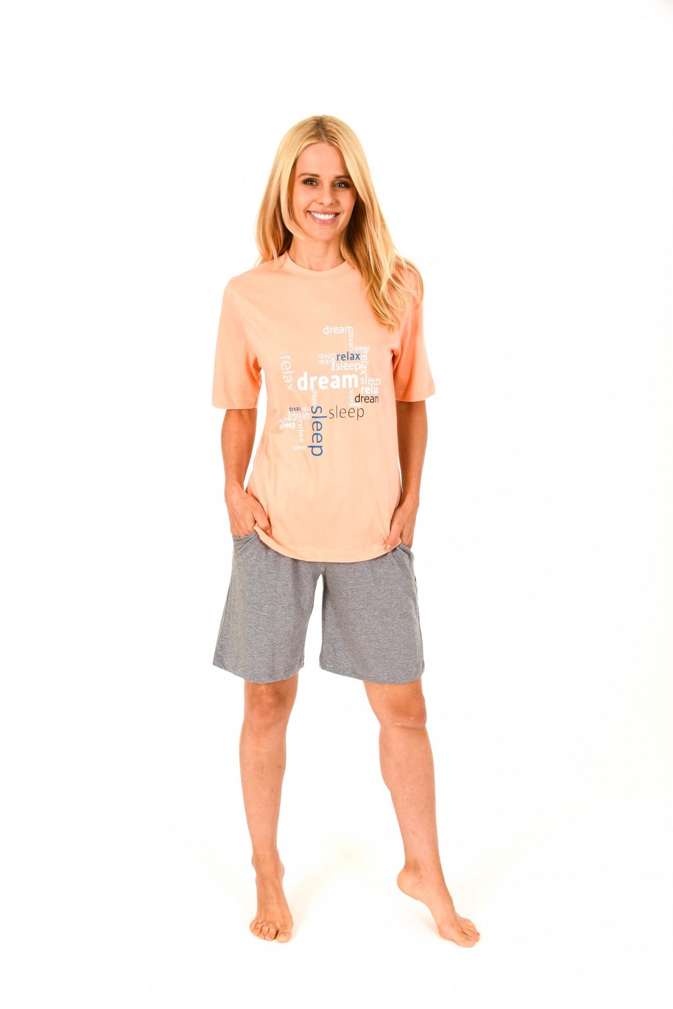 Damen Shorty Pyjama mit kurzer  Hose und kurzarm Oberteil – 171 205 90 828
