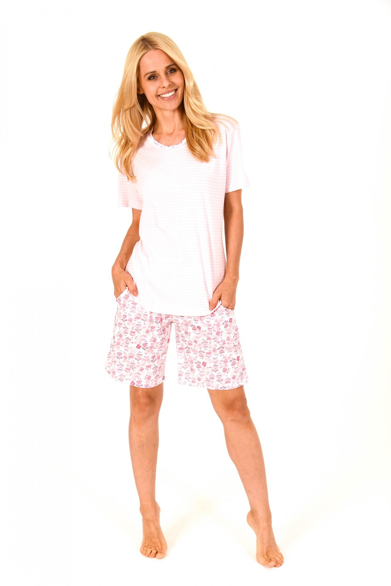 Toller Damen Shorty Pyjama kurzarm in Streifenoptik – 171 205 90 838