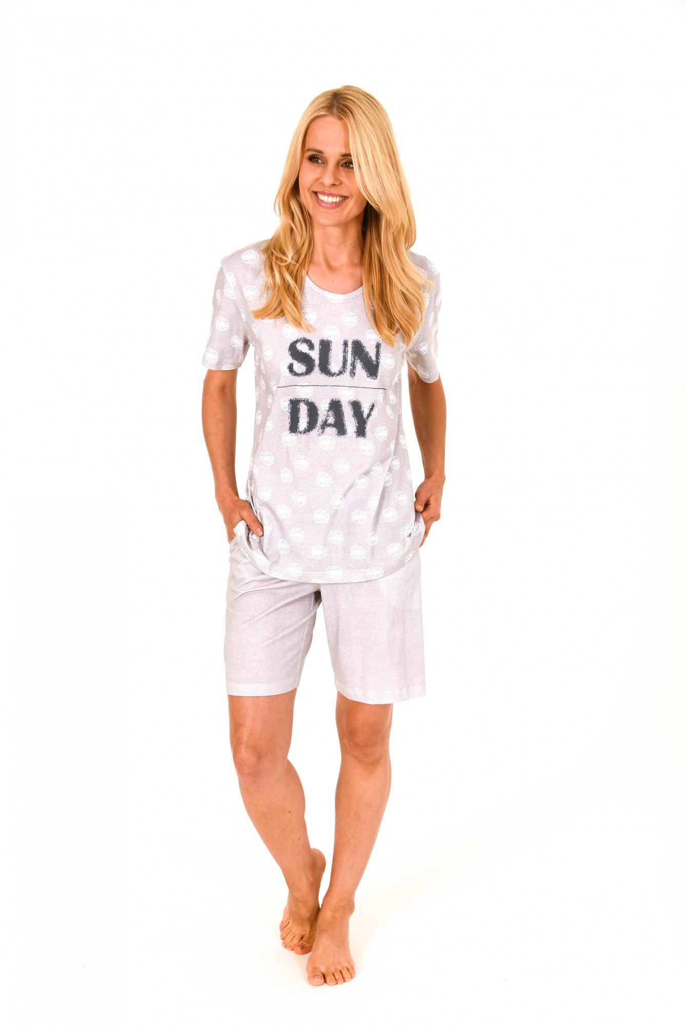 Lässiger Damen Shorty Pyjama  kurzarm – auch in Übergrössen bis Gr. 60/62 – 205 90 879